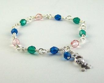 Thyroid Cancer Awareness Bracelet