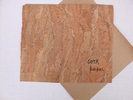 Folhas papel de cortiça, 100% Português, folha de cortiça e papel Kraft com 25x30cm para scrapbooking e cartonagem, padrão natural rústico