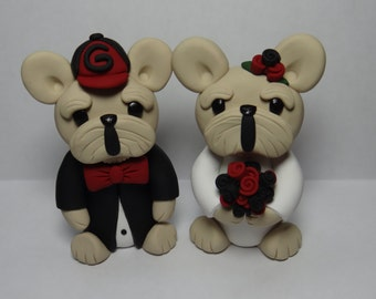 UGA Bulldog Mascot Wedding Cake Topper