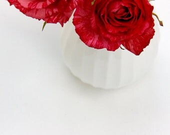 Red Roses Photograph white vase still life home decor red flowers in vase 8x10 anniversary valentine's day wedding