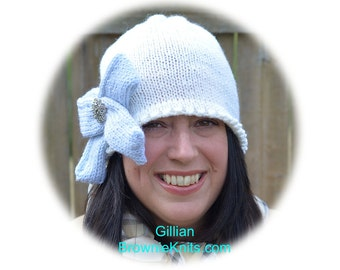 Gillian Hat Knitting Pattern: A 1920s Style Hat