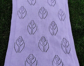 Petal Baby Afghan Knitting Pattern
