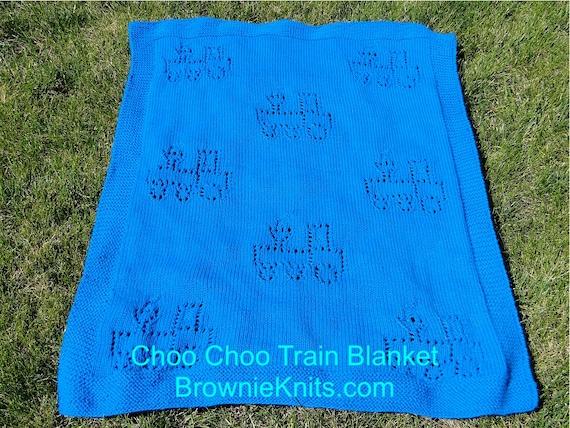 Knitting Pattern Train Blanket : Choo Choo Train Blanket Knitting Pattern