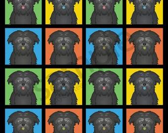 Affenpinscher Cartoon Pop-Art T-Shirt Tee - Men's, Women's Ladies, Short, Long Sleeve, Youth Kids