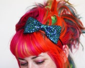 Adult Bow Headband, Glitter Hairband, Peacock, Other Colours Available