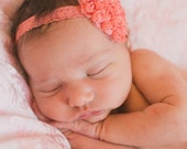 Heart and lace headband for girls. Newborn photos, baby girls , toddler headband. Red, pink, peach heart Valentines Day