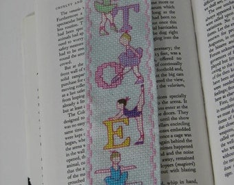 Little Ballerina Bookmark   Hand Cross Stitch