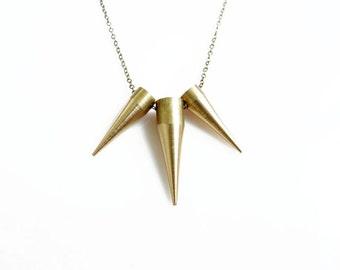 Unisex Spike Necklace, Minimal Gold Spike Necklace, Mens Necklace, Minimalist Jewelry