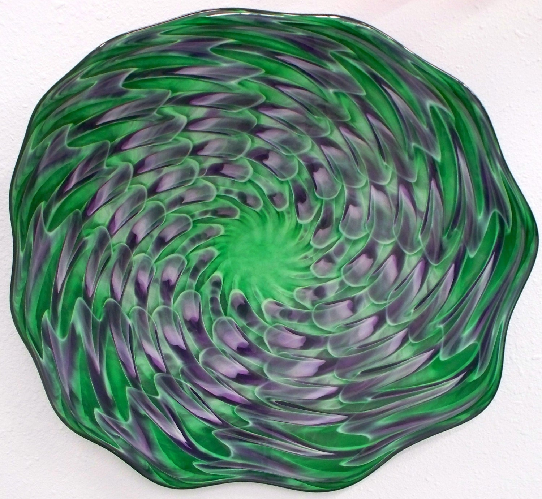 blown glass platter hand blown glass art patterned wall. Black Bedroom Furniture Sets. Home Design Ideas