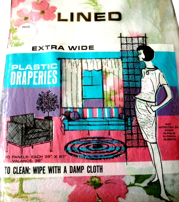plastic draperies vintage for the retro housewife from vintagepickle on etsy