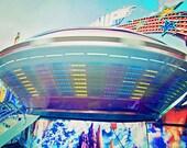 Starship at the Fair - 8x12 Fine Art Photograph - Summer Carnival, Children's Room Art, Fanciful Decor