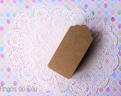 100 Pcs - Kraft Tag - Gift Tag - Product Tag - 4.5 cms x 9.5 cms -  Ready to Ship.