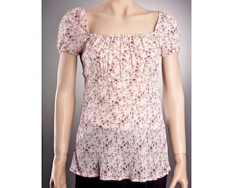 SHEER BLOUSE US size 6 to 16 with beautiful floral pattern