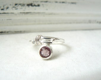 Spinel Gemstone and Sterling silver Ring - Modern ring - size 7 - READY TO SHIP