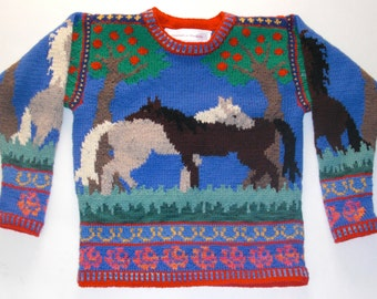 Knitting Pattern: Horses Size Seven Years