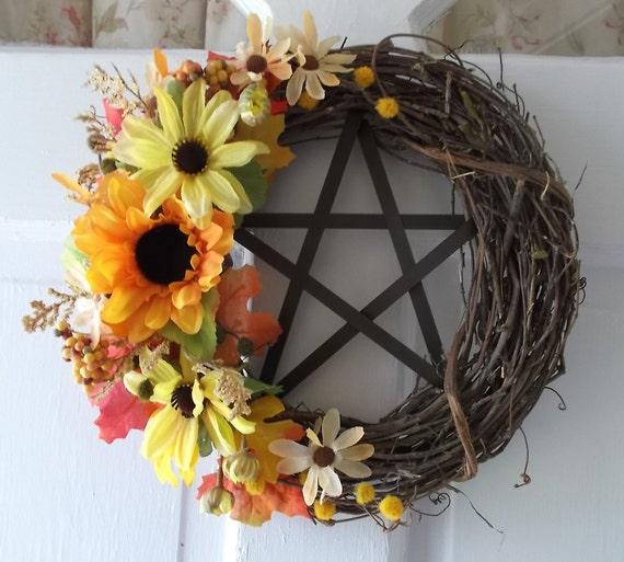 Mabon Wreath Pentacle Wreath Pagan Wreath Fall Wreath