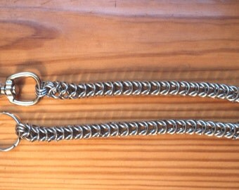 """20"""" Stainless steel chain mail box weave wallet chain"""