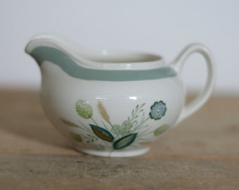 vintage creamer clovelly woodsware by woods & sons england