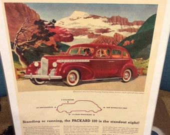 1940 Packard One Twenty Touring Sedan automobile print ad