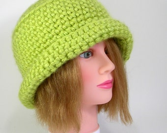 Key Lime Womens Cloche Hat  Ready to Ship or Made to order
