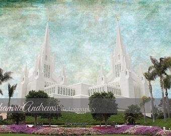 San Diego LDS Temple Landscape - Instant DIGITAL DOWNLOAD - Large Temple Print