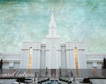 Bountiful Utah LDS Temple - Landscape - Instant DIGITAL DOWNLOAD - Large Temple Print