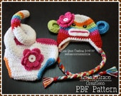 Sock Monkey Crochet Hat and Diaper Cover Pattern SET - SUZY & SID - 122, 702