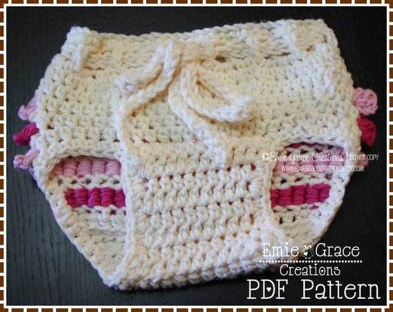 Free Crochet Pattern Diaper Cover With Ruffles : Diaper Cover Crochet Pattern, Ruffle Buns, LILY - pdf 709 ...