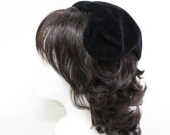 Vintage 1950's Black I. Magnin Opera Hat