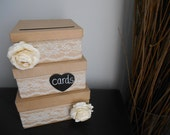 Rustic Wedding Card Box Custom Made Money Card Holder for Wedding