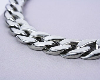 1 Foot Plastic Chunky Curb Chain Silver (23 Links) / (1 foot / 0.3 meters) [CHN12004] [Bin12A] SALE