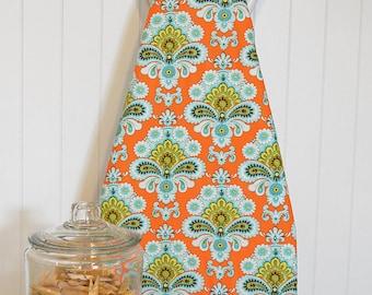 Designer Ironing Board Cover - Amy Butler Belle French Wallpaper Orange