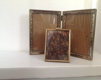 Vintage Ornate Metal Frames - Double Frame - Brass Frames - Collection - Display