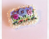 Made with sparkle x Itsy bitsy tiny garden art pin bar brooch