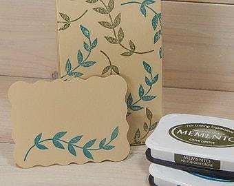 Large Leafy Vine Olive Wood Stamp