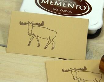 Mr Moose Olive Wood Stamp