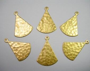 Hammered Raw Brass Teardrops Dangles Earring Findings - 6