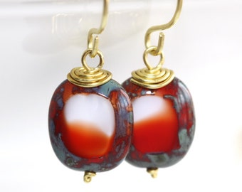 Multi-Colored Glass Earrings - 'Been There Done That'