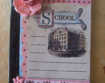 Vintage Inspired Schoolhouse Altered Composition Book