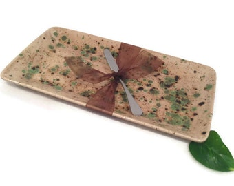 Appetizer Platter Earth Tones Tan and Green