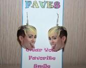 Miley Cyrus Dangle Earrings Celebrity Inspired Jewelry
