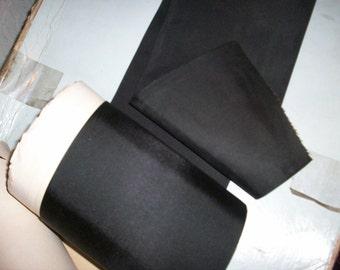 """1 yd. of this black faille taffeta ribbon 5 7/8"""""""