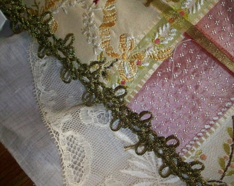 1 yard of an antique french gold metal trim
