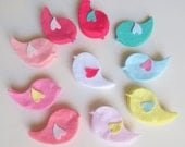 36 Pieces Die Cut Felt Winged Baby Bird For Baby Girl DIY Kits