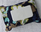 Baby Wipes Cover/Pouch- Rectangular Opening- Modern Meadow fabric