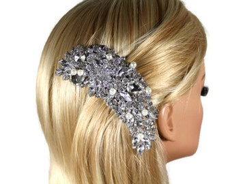 Large Pearl Bridal Hair Comb, Wedding Headpiece, Rhinestone Wedding Hair Comb, Wedding Combs, Hair Accessories, Wedding Accessories