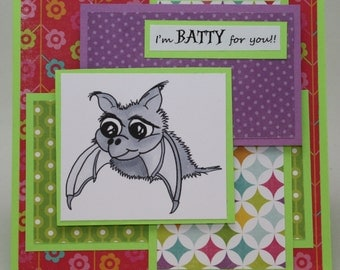 BATTY for YOU -  OOAK card