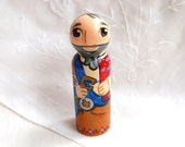 St Peter Catholic Saint Doll - Wooden Toy - Made to Order