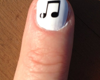 Toe nail / finger nail Music notes decals / stickers / pedicure