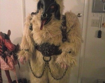 Krampus Perchten Kukeri Wilder Man Baphomet Mask and Suit
